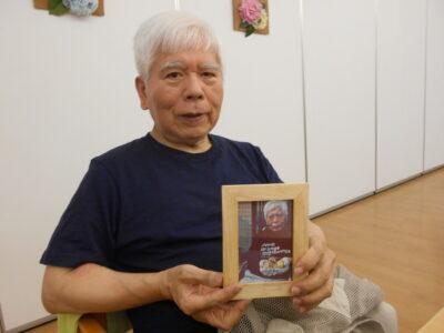 父の日記念に写真立てをプレゼントしました!!!!!